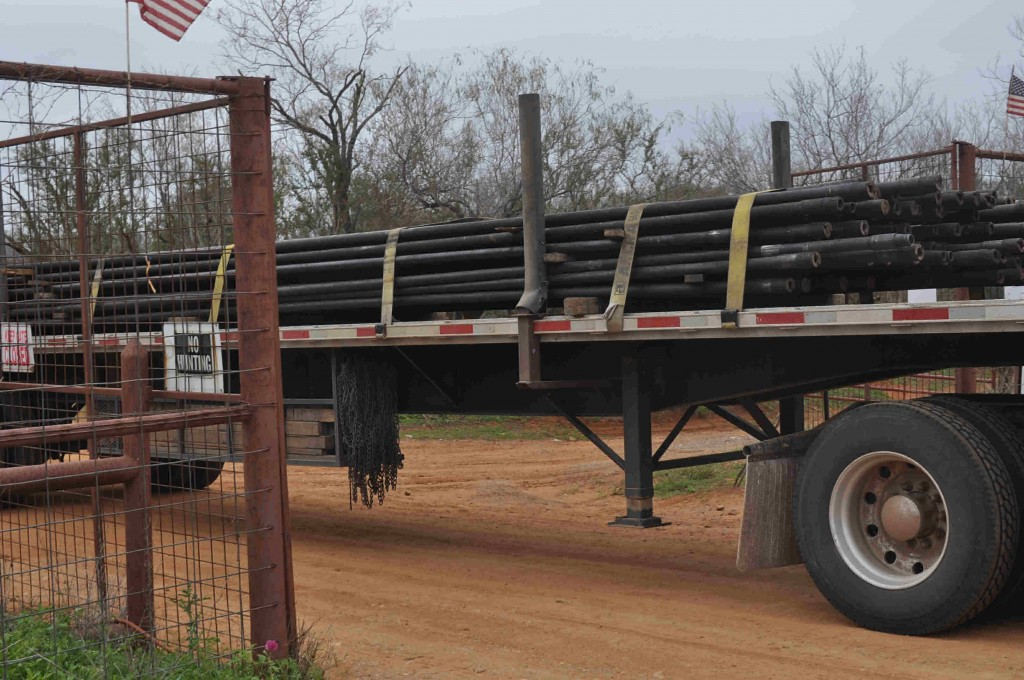 Bringing in the new drill pipes for #2